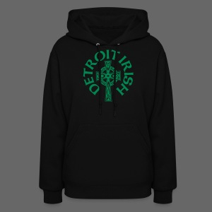 Detroit Irish Celtic Cross  - Women's Hoodie