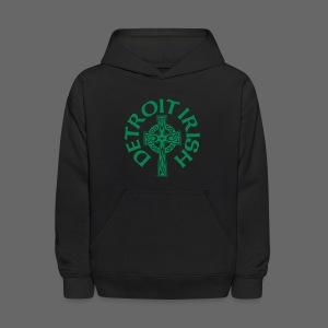 Detroit Irish Celtic Cross  - Kids' Hoodie