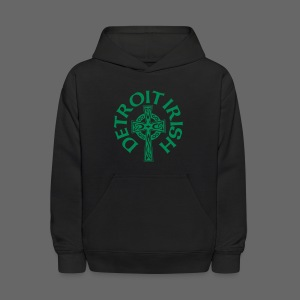 Detroit Irish Celtic Cross  - Kids' Hoodie