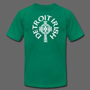 Detroit Irish Celtic Cross  - Men's Fine Jersey T-Shirt