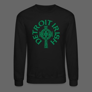 Detroit Irish Celtic Cross  - Crewneck Sweatshirt