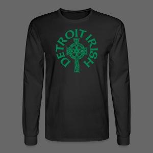 Detroit Irish Celtic Cross  - Men's Long Sleeve T-Shirt