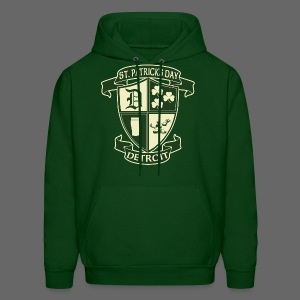 St. Patricks Day Detroit Irish Crest  - Men's Hoodie