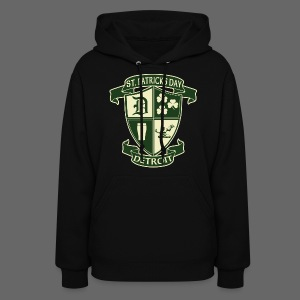 St. Patricks Day Detroit Irish Crest  - Women's Hoodie