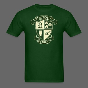 St. Patricks Day Detroit Irish Crest  - Men's T-Shirt