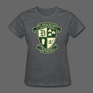 St. Patricks Day Detroit Irish Crest  - Women's T-Shirt