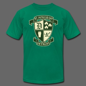 St. Patricks Day Detroit Irish Crest  - Men's T-Shirt by American Apparel