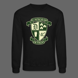 St. Patricks Day Detroit Irish Crest  - Crewneck Sweatshirt