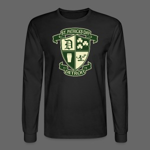 St. Patricks Day Detroit Irish Crest  - Men's Long Sleeve T-Shirt