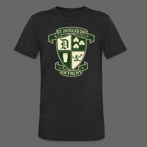 St. Patricks Day Detroit Irish Crest  - Unisex Tri-Blend T-Shirt