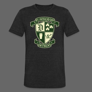 St. Patricks Day Detroit Irish Crest  - Unisex Tri-Blend T-Shirt by American Apparel
