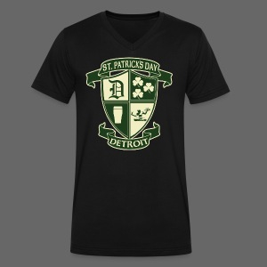 St. Patricks Day Detroit Irish Crest  - Men's V-Neck T-Shirt by Canvas
