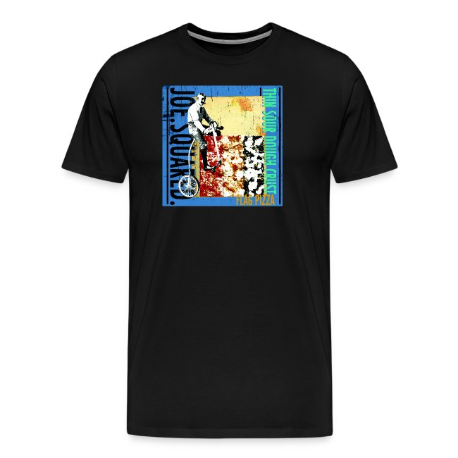 flag pizza men's t-shirt