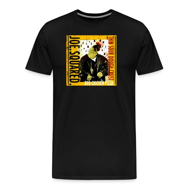 bbq chicken pizza men's t-shirt