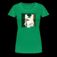 T-Shirts ~ Women's Premium T-Shirt ~ white pizza women's shirt