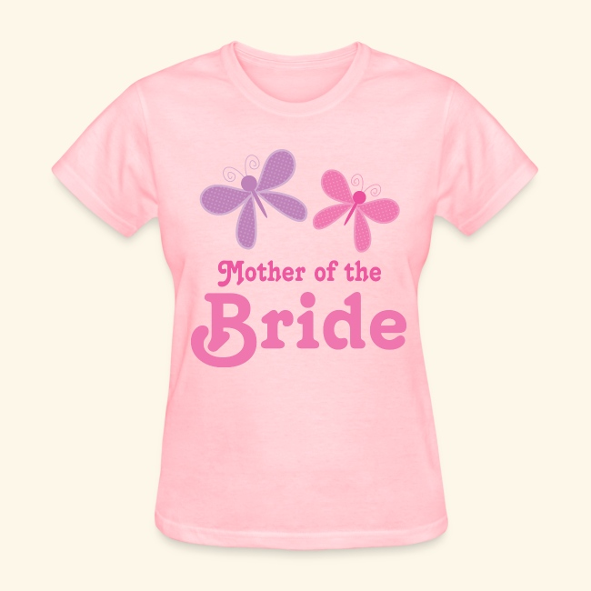 mother of the bride womens t shirt pink