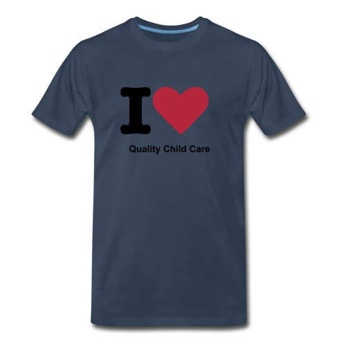 I Love Childcare Men's - Men's Premium T-Shirt