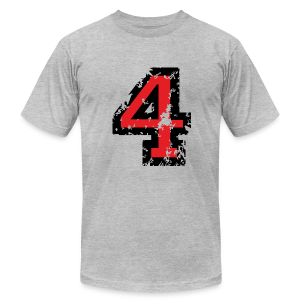 Number Four T-Shirt No.4 (Men Grey) - Men's T-Shirt by American Apparel