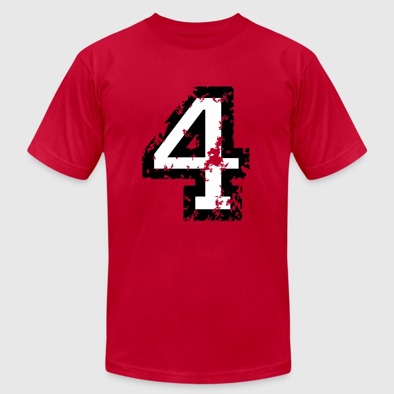 Number Four T-Shirt No.4 (Men Red) - Men's T-Shirt by American Apparel