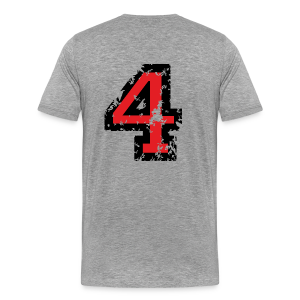 Number Four T-Shirt No.4 (Men Grey) Back - Men's Premium T-Shirt
