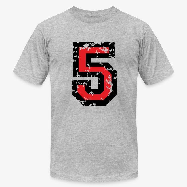 49d66ca7f Number Five T-Shirt No.5 (Men Grey) | Men's Jersey T-Shirt
