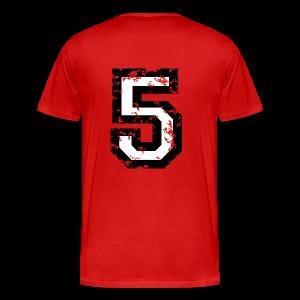 Number Five T-Shirt No.5 (Men Red) Back - Men's Premium T-Shirt
