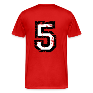 Number Five T-Shirt No.5 (Men Red) Back - Men's Premium T-Shirt