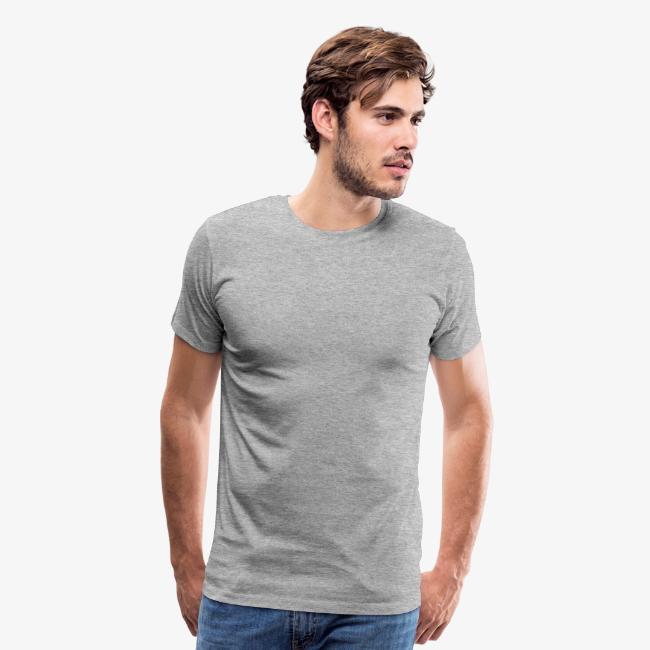 db6ca0366 Number Five T-Shirt No.5 (Men Grey) Back | Men's Premium T-Shirt