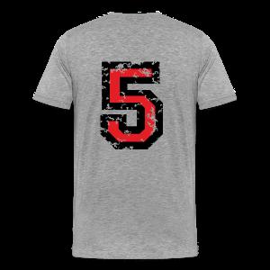 Number Five T-Shirt No.5 (Men Grey) Back - Men's Premium T-Shirt