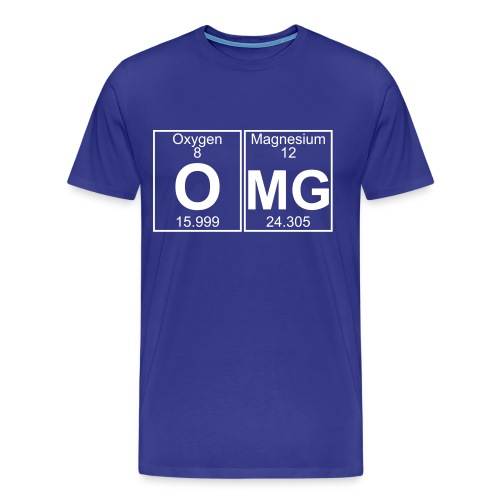 O-Mg (omg) - Full - Men's Premium T-Shirt