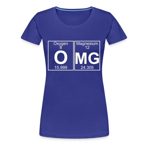 O-Mg (omg) - Full - Women's Premium T-Shirt