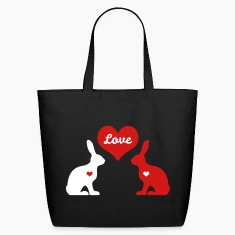bunny rabbit hare cony leveret bunnies heart love Bags & backpacks
