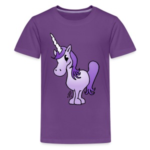Purple Unicorn Kids' Shirts - Kids' Premium T-Shirt
