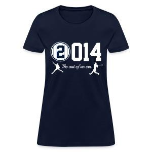 Jeter Tribute - 2014 End of Era - Womens - Navy - Women's T-Shirt