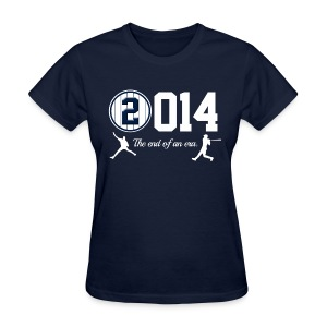 Jeter Tribute - 2014 End of Era - Womens - Navy - Women's T-Shirt