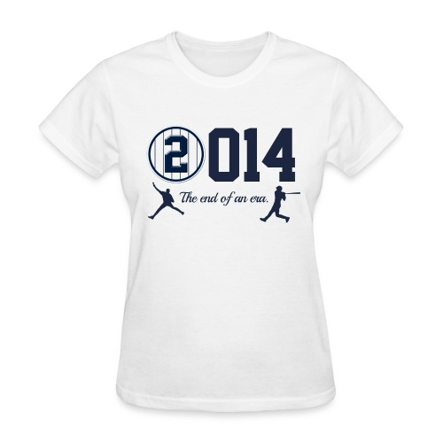 Jeter Tribute - 2014 End of Era - Women's White - Women's T-Shirt