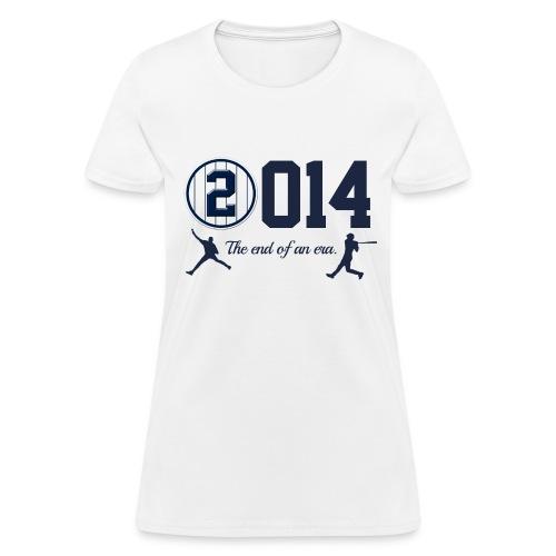 Jeter Tribute - 2014 End of Era - Women's White - Women's T-Shirt