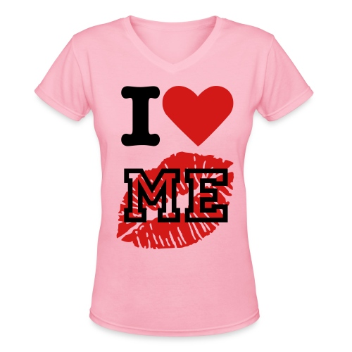 I Love Me Tee! - Women's V-Neck T-Shirt