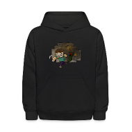 Sweatshirts ~ Kids' Hooded Sweatshirt ~ Cave Escape
