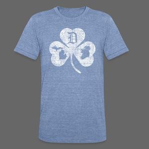 Detroit Michigan Ireland Shamrock - Unisex Tri-Blend T-Shirt