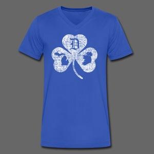 Detroit Michigan Ireland Shamrock - Men's V-Neck T-Shirt by Canvas