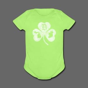 Detroit Michigan Ireland Shamrock - Short Sleeve Baby Bodysuit