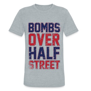Bombs Over Half Street - UNISEX Triblend - Unisex Tri-Blend T-Shirt by American Apparel