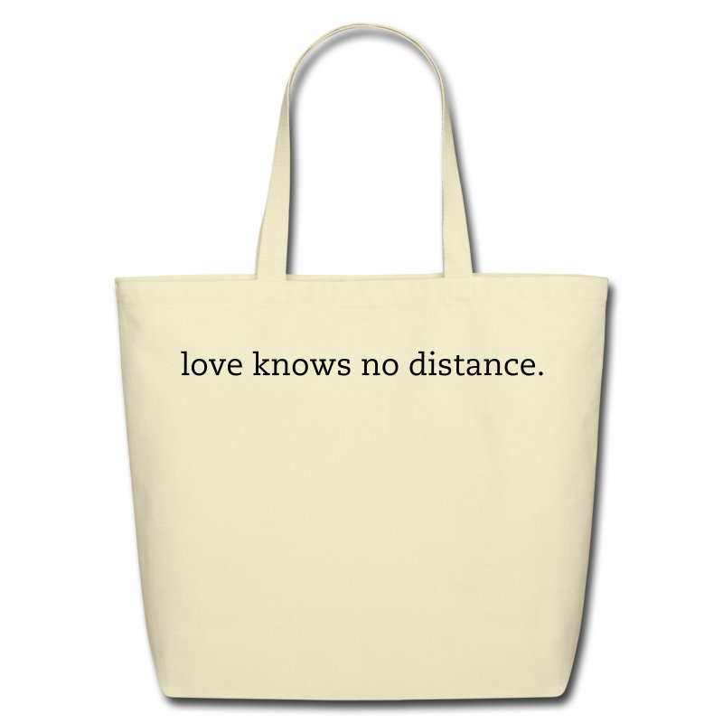 No Distance Tote, Customizable - Eco-Friendly Cotton Tote