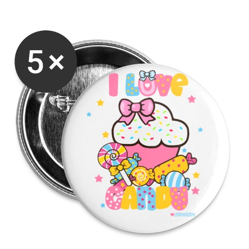 CANDY - Buttons large 2.2'' (5-pack)