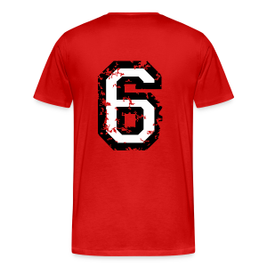 Number Six T-Shirt No.6 (Men Red) Back - Men's Premium T-Shirt