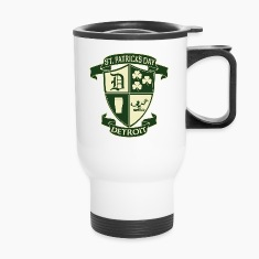 St. Patricks Day Detroit Irish Crest  Bottles & Mugs