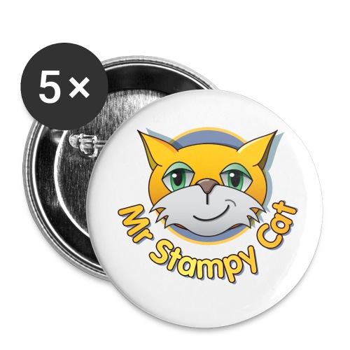 Mr. Stampy Cat - Badges  - Buttons large 2.2'' (5-pack)