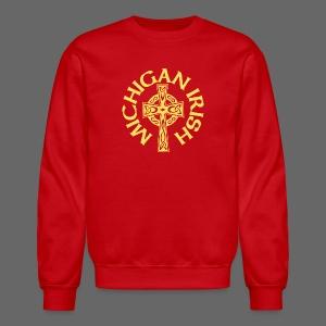 Michigan Irish Celtic Cross - Crewneck Sweatshirt