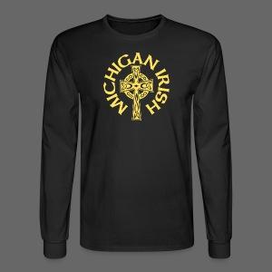 Michigan Irish Celtic Cross - Men's Long Sleeve T-Shirt